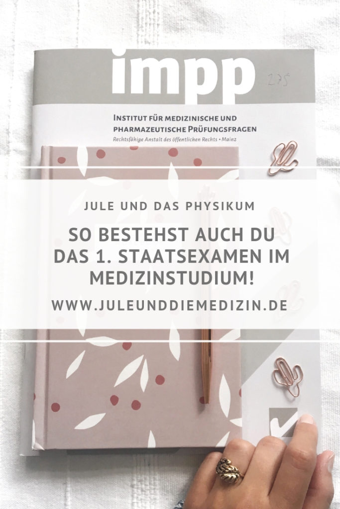 Jule und das Physikum - Medizinstudium, medical, medstudent, study, student, medicine