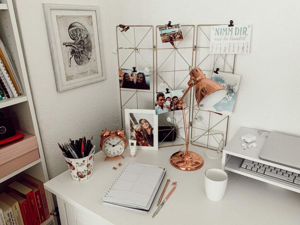 Schreibtisch, Homeoffice, Interior, Inspiration, Desk, Arbeitsplatz, Umgestaltung, Medizinstudium, Studium